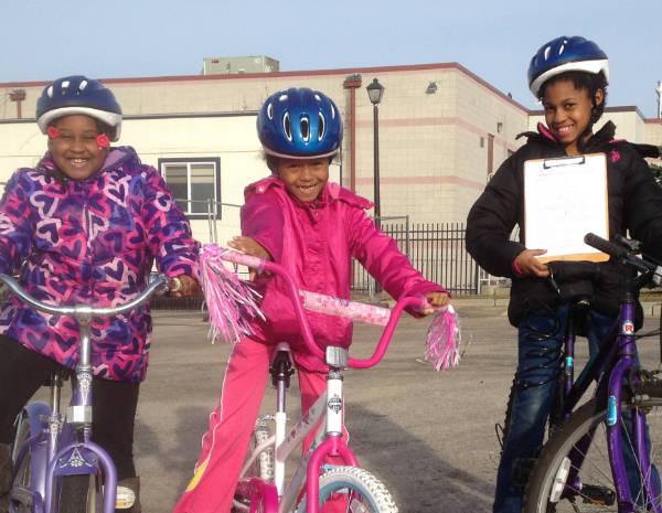 Earn-a-bike girls