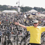 Lots of bikes at Newport Folk Fest