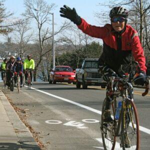 Bike lane wave